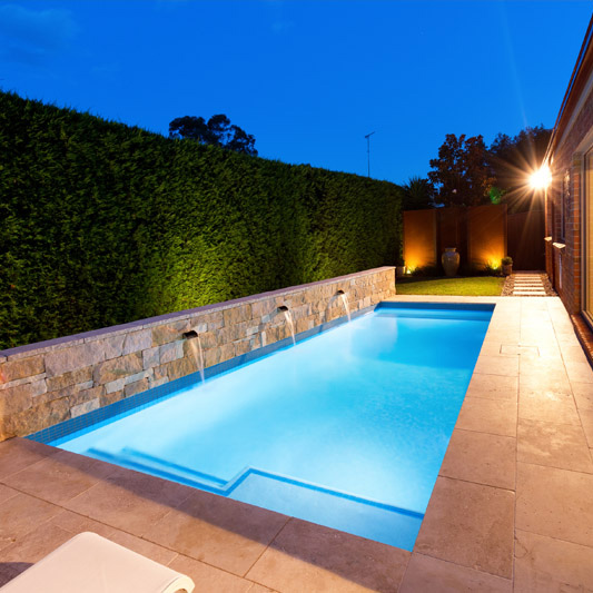 Landscaped Backyards With Pools: Concrete Pool & Landscaping Design